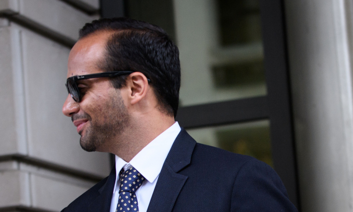 George Papadopoulos leaves the U.S. District Courts after his sentencing in Washington on Sept. 7, 2018. (Mandel Ngan/AFP/Getty Images)