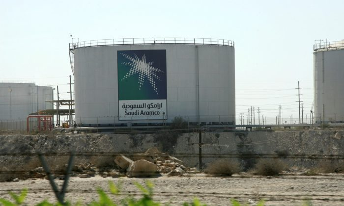 Oil tanks seen at the Saudi Aramco headquarters during a media tour at Damam city on Nov. 11, 2007. (Ali Jarekji/File Photo/Reuters)