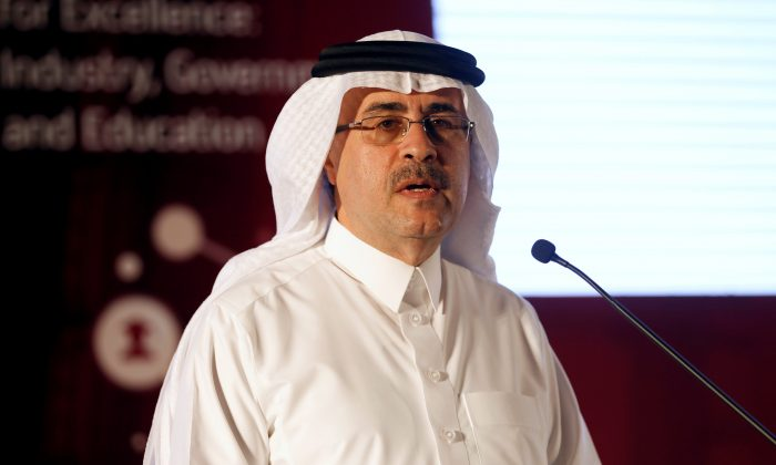 Saudi Aramco Chief Executive Amin Nasser speaks during the opening of Middle East Petrotech 2016, an exhibition and conference on refining and petrochemical industries, in Manama, Bahrain, on Sept. 26, 2016. (Hamad I Mohammed/File Photo/Reuters)