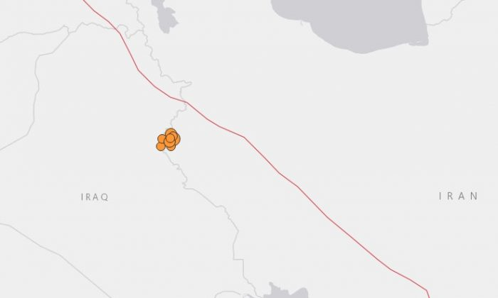 A string of deadly earthquakes hit Iran on Nov. 25. leaving hundreds wounded. (USGS)
