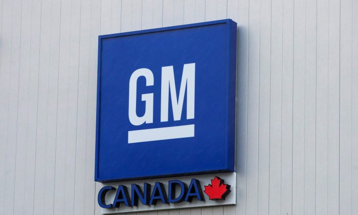 The General Motors assembly plant in Oshawa, Ontario, Canada, on Nov. 26, 2018. (Carlos Osorio/Reuters)