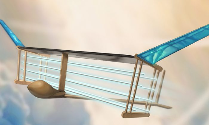 An MIT engineering team has successfully tested a plane propelled by ionic wind. (Christine Y. He)