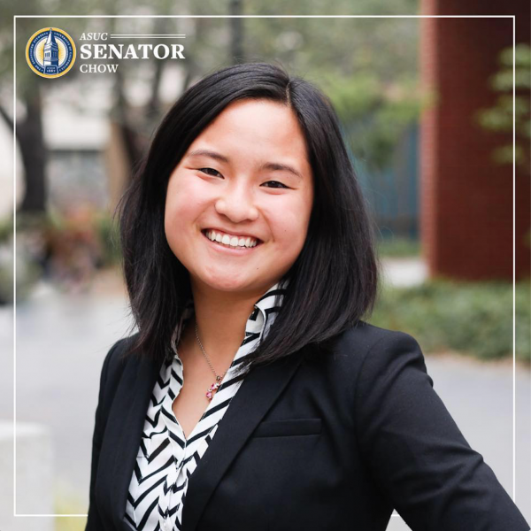 Student senator Isabella Chow is pictured