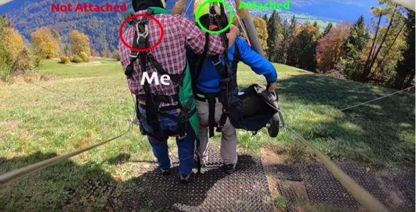 Hang glider accident