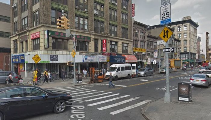 A stock photo of a Manhattan street (Google Street View)