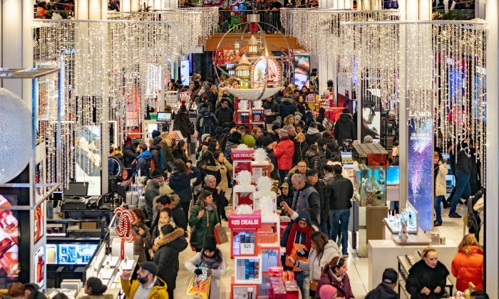 People shop at the Herald Square Macy's Flag ship store in New York City on Nov. 22, 2018. (David Dee Delgado/Getty Images)