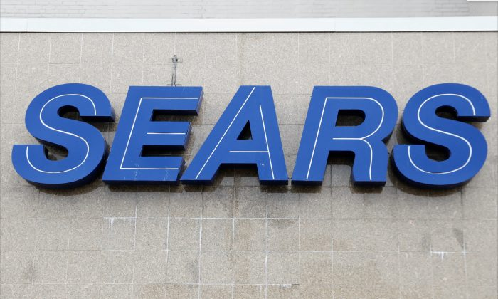 The Sears logo outside a store in Brooklyn, N.Y., on Oct. 10, 2018. (Shannon Stapleton/Reuters)