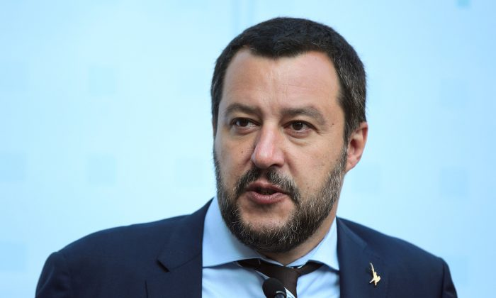 Italy's Matteo Salvini attending a news conference in Innsbruck, Austria, on July 12, 2018. (Reuters/Lisi Niesner/File Photo)