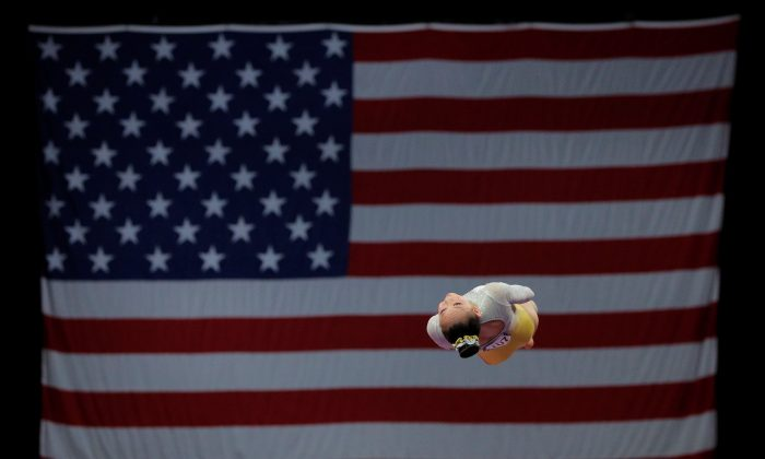 A gymnast competes on vault at the U.S. Gymnastics Championships in Boston, Massachusetts, on Aug. 19, 2018. (Brian Snyder/File Photo/Reuters)