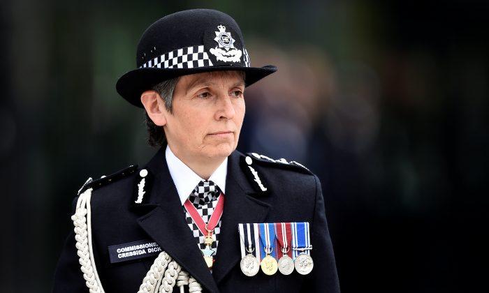 London's Metropolitan Police Commissioner Cressida Dick in Hendon, London, on April 21, 2017. (Hannah McKay - WPA Pool / Getty Images)