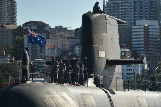 Australia awarded a key contract in April 2011 to French contractor DCNS to design and build its next-generation submarine to replace its existing Colin-class fleet.  The new submarines will be from France, the conventional-powered version of the 700-ton nuclear-powered barracuda.  (Peter Parks / AFP / Getty Images)