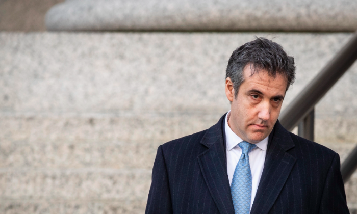 Michael Cohen, former personal attorney to President Donald Trump, exits federal court in New York City, on Nov. 29, 2018. (Drew Angerer/Getty Images)