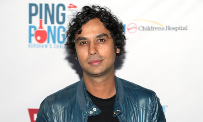 Kunal Nayyar attends the 6th Annual PingPong4Purpose at Dodger Stadium in Los Angeles, on Aug. 23, 2018. (Jerritt Clark/Getty Images)