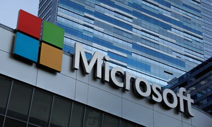 A Microsoft logo is seen in Los Angeles, Calif., on Nov. 7, 2017. (Lucy Nicholson/File Photo/Reuters)