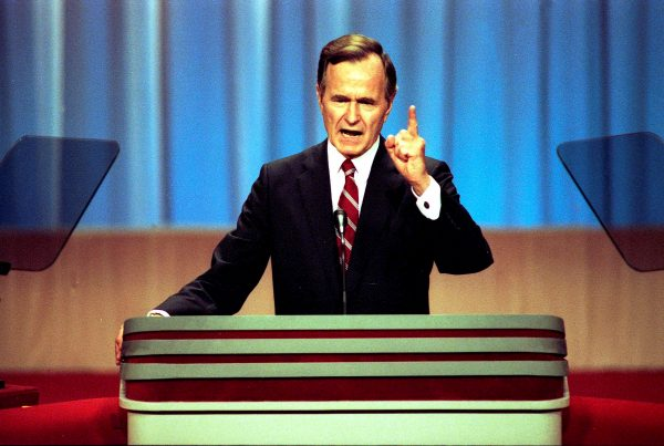 Vice President George H.W. Bush gives his acceptance speech