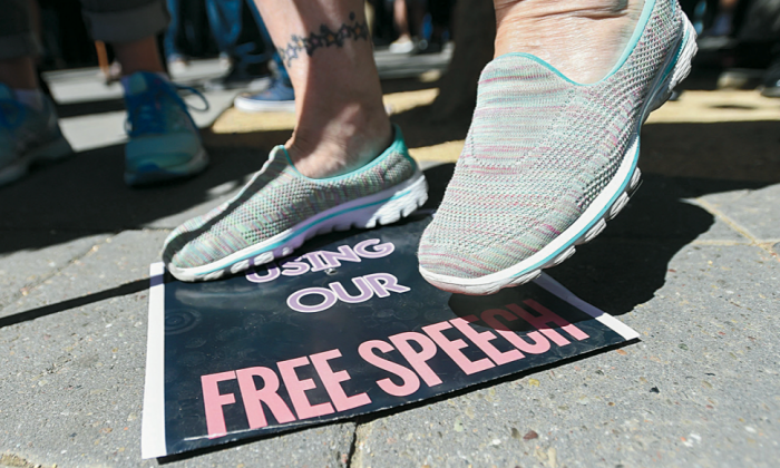 A slow march of destructive leftist idealism has resulted in attacks on fundamental free speech. (Josh Edelson/AFP/Getty Images)