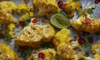 Coconut Roasted Cauliflower Wedges With Cilantro and Lime