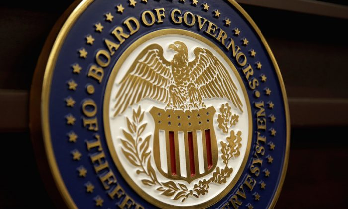 The seal for the Board of Governors of the Federal Reserve System is displayed in Washington, U.S., June 14, 2017.   (Joshua Roberts/File Photo/Reuters)