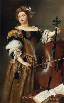 Jacquet_Gustave_Jean_The_Cello_Player