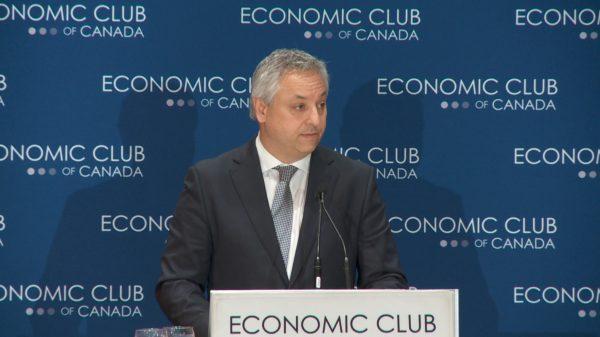 CSIS Director David Vigneault speaks at the Economic Club of Canada in Toronto on Dec. 4, 2018.