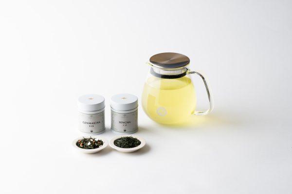 Ippodo glass teapot with green teas