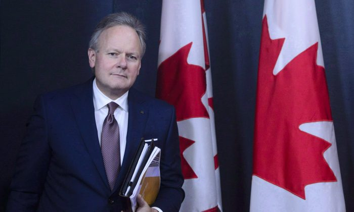 StephenPoloz, Governor of the Bank of Canada, at a press conference in Ottawa on Oct. 24, 2018. Canada's central bank held its overnight rate target at 1.75 percent on Dec. 5. (The Canadian Press/Sean Kilpatrick)