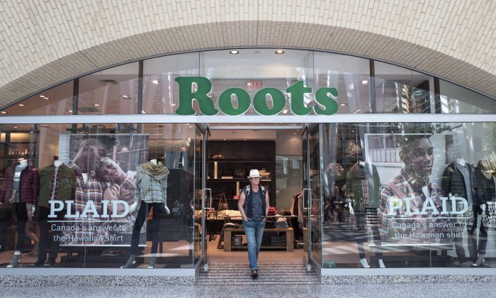 The storefront of aRootslocation in Toronto is pictured in this file photo. (The Canadian Press/Chris Young)