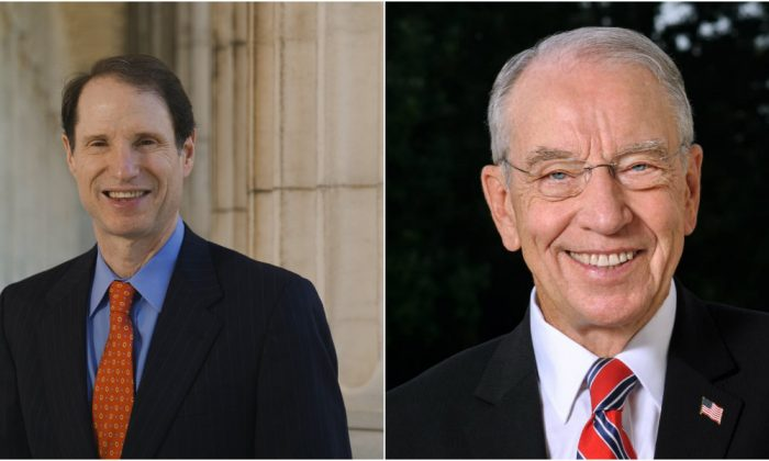 Ron Wyden (D-Ore.) and Chuck Grassley (R-Iowa) proposed legislation Dec. 4, 2018, to prevent drug makers from saving on rebates by misclassifying their drugs in the Medicaid Drug Rebate Program. (www.wyden.senate.gov (L) www.grassley.senate.gov)