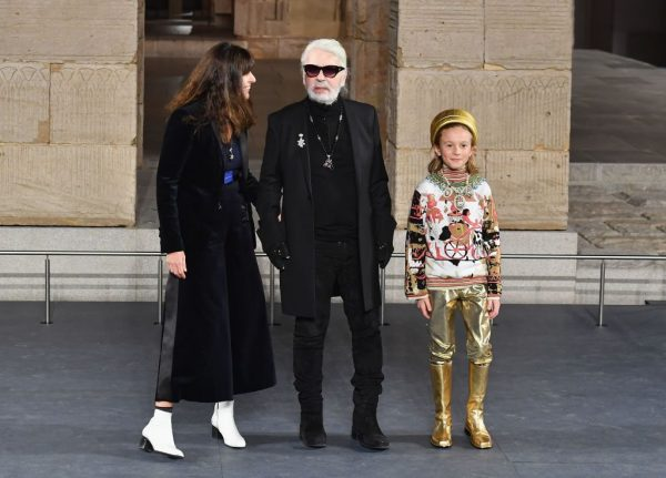 Designer Karl Lagerfeld at a Chanel event