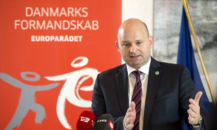 Søren Pape Poulsen, Danish minister for justice, in Copenhagen, Denmark, on April 13, 2018. (Nils Meilvang/AFP/Getty Images)