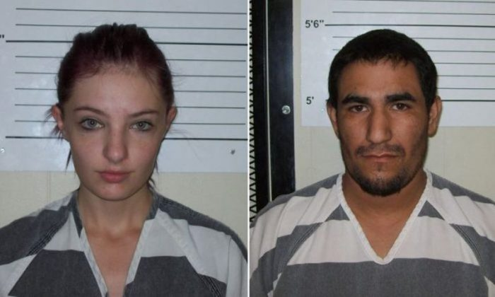 Cheyenne Harris and Zachary Koehn in a booking photo in August 2017. (Chickasaw County Sheriff's Office)