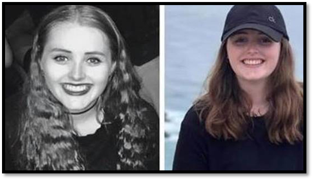 British backpacker Grace Millane in two images provided by the Auckland Police during a missing persons investigation in New Zealand that resulted in a man being charged for her murder on Dec. 8, 2018. (Aukland Police Department)