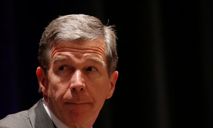 North Carolina Governor Roy Cooper takes part in a meeting in Providence, Rhode Island, on July 13, 2017. (Brian Snyder/Reuters)