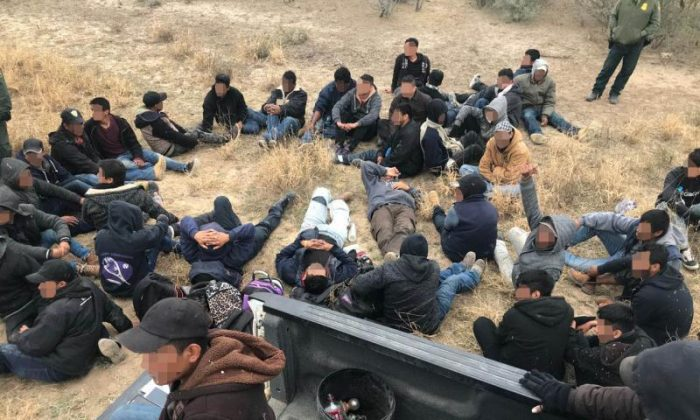A group of 63 illegal aliens were arrested west of Laredo, Texas on Dec. 6, 2018. (Border Patrol)