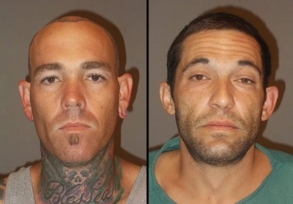 booking photos of two burglary suspects