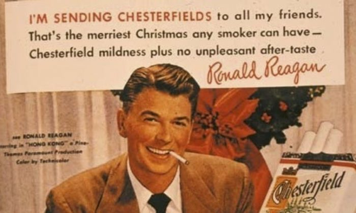 This ad featuring then-actor Ronald Reagan is an example of industry advertising that made smoking so popular. (University of California San Francisco Tobacco Archives, CC BY-SA)
