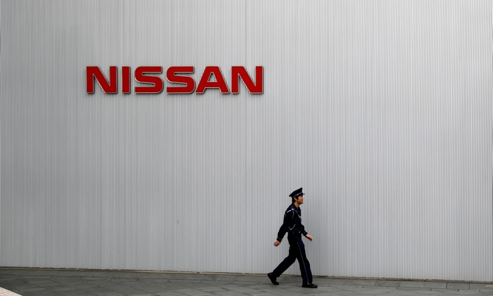 Nissan Motor Co.'s global headquarters building in Yokohama, Japan on Nov. 22, 2018. (Reuters/Toru Hanai)