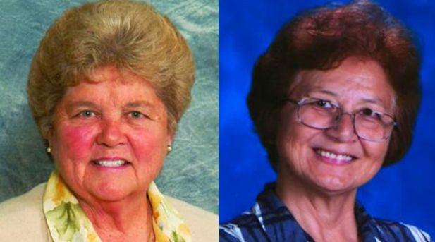 Sister Mary Margaret Kreuper, left. Sister Lana Chang. (Sisters of St. Joseph/Facebook)