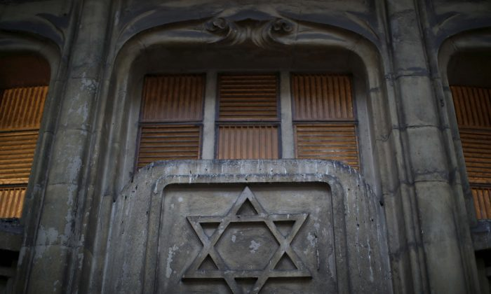 The Star of David on the facade of a synagogue in Paris on Dec. 10, 2018. (Reuters/Gonzalo Fuentes)