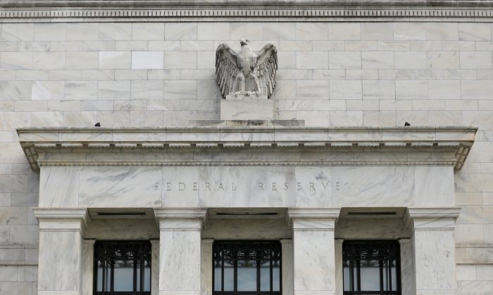 The Federal Reserve building in seen in Washington on Aug. 22, 2018. (Chris Wattie/Reuters)