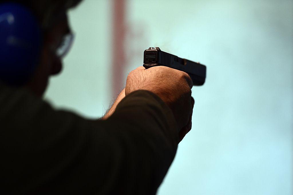 gun at firing range