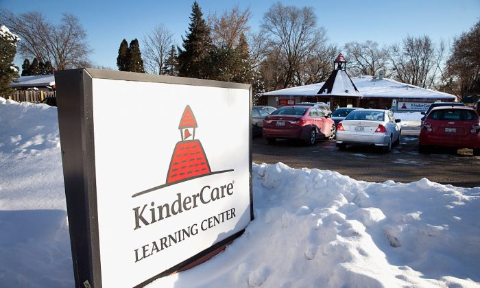 A KinderCare sign in a file photo. (Scott Olson/Getty Images)