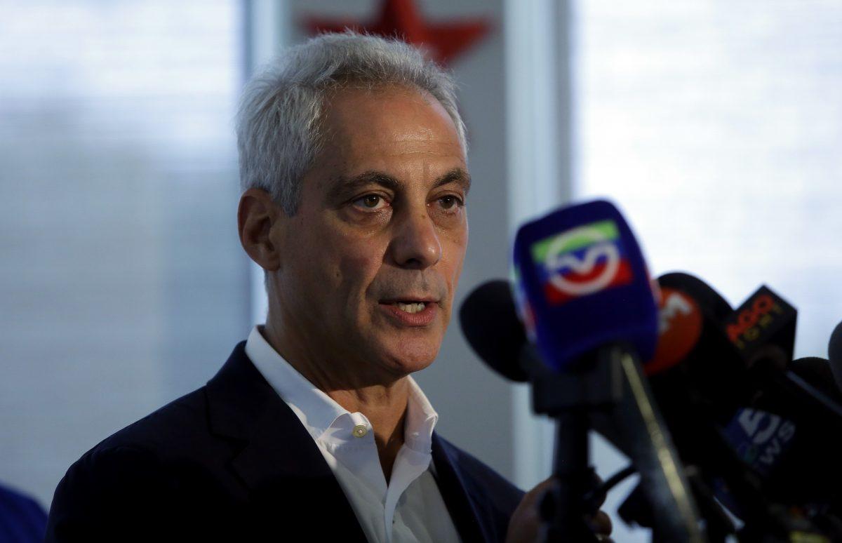 Chicago Mayor Rahm Emanuel in Chicago