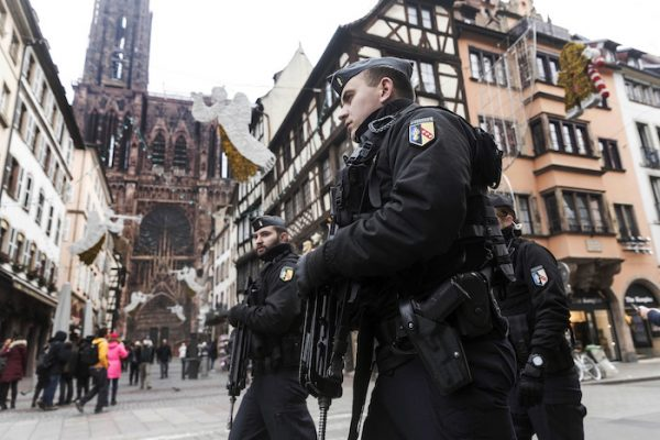 police officers in Strasbourg