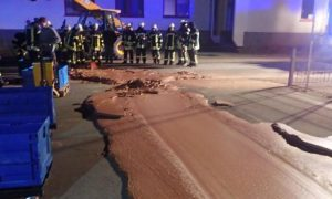 One Ton of Chocolate Spills Onto Street in Germany, Forcing Cleanup With Shovels