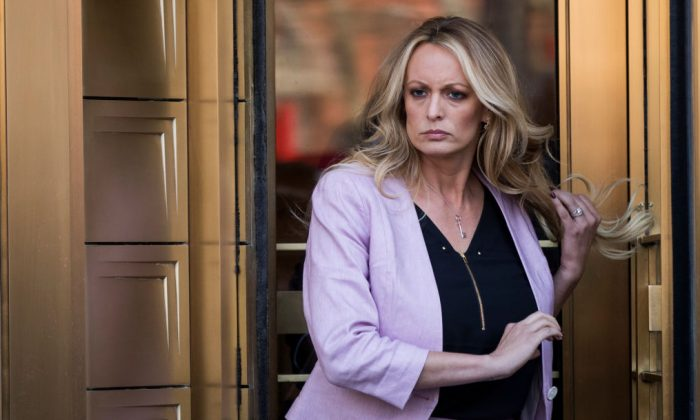 Adult film actress Stormy Daniels in New York City on April 16, 2018. (Drew Angerer/Getty Images)