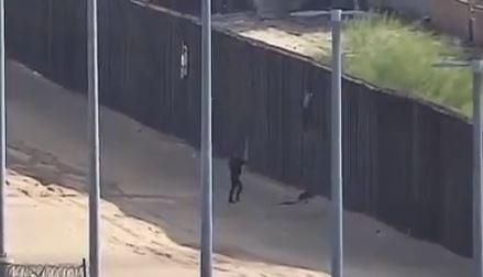 teen falls off border wall