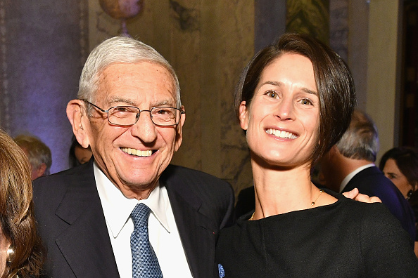 Eli Broad and Gerun Riley attend the Getty Medal Dinner 2017