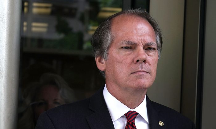 Former Senate Intelligence Committee Security Director James Wolfe comes out from the U.S. District Courthouse after a status hearing on June 19, 2018. (Alex Wong/Getty Images)