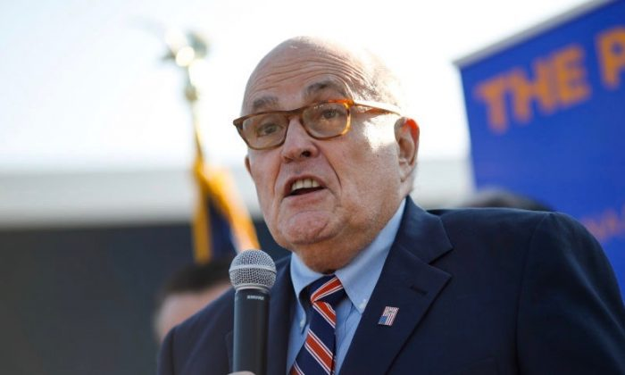 Former New York City Mayor and current lawyer for President Donald Trump Rudy Giuliani in a file photograph. (Aaron P. Bernstein/Getty Images)